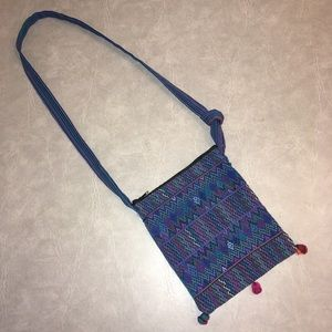 Boho Guatemalan Cross Body Bag w/ Adjustable Strap